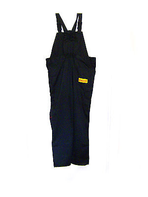 Pirelli Black Work Bib and Brace Overalls Dungarees Trousers, L size