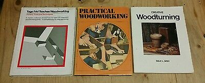 Woodworking Books x 3: Practical Woodworking, Woodturning, Tools & Techniques