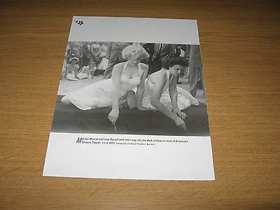MARILYN MONROE & JANE RUSSELL - 1 page book clipping HOLLYWOOD WALK OF FAME