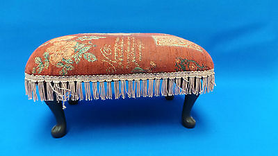 Traditional Vintage Fabric Footstool - Good Condition