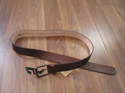 BNWT MENS LEVIS BROWN REAL Leather WAIST BELT GIFT IDEA VARIOUS SIZES