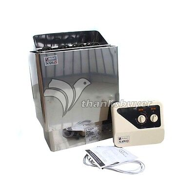 6KW Sauna Heater Stove 220V-380V Wet & Dry Stainless Steel with External Control