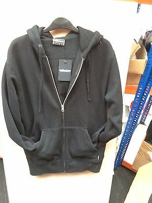 The hundreds  tin can zip up hoodie black 388