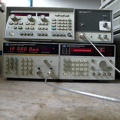 HP Agilent 5342A microwave counter plus 5344A source synchronizer