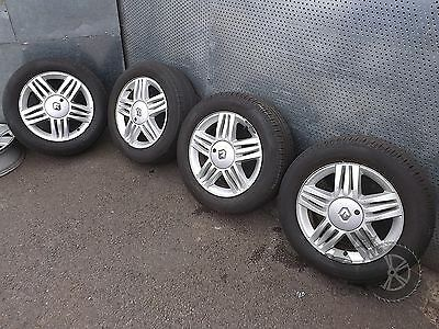 "Renault Scenic (2004-2009) 16"" 4x Alloy Wheels + Tyres 205/60 R16 ref.MM26"