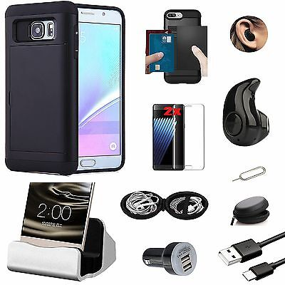9 in 1 Accessory Bundle Case Cover Bluetooth Earphones For Samsung Galaxy S7
