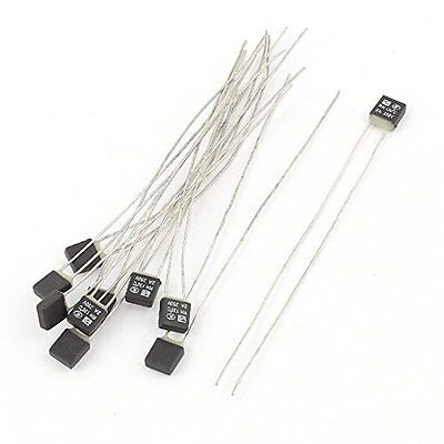 10Pcs New RH 130C Double Lead Temperature Control Thermal Fuse 250V 2A