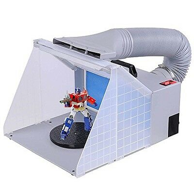 AW Light Portable Airbrush Spray Booth w/ LED Lighting 5.6' Hose For Painting