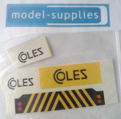 Dinky 980 Coles Hydra truck reproduction decal set