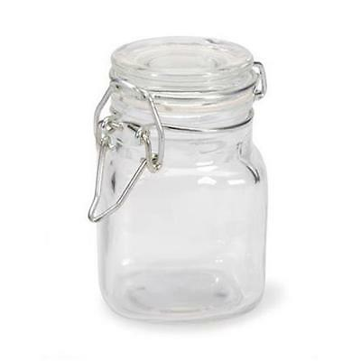 Cell Distributor Small Glass Jars With Locking Cannister Style Lids
