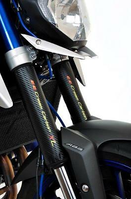 Carbon Fibre Finish Adventure Fork Protectors - Yamaha MT09 Street Rally