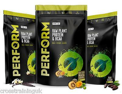 Vivo Life PERFORM Plant Based Protein Powder with BCAA Vegan All Natural Paleo