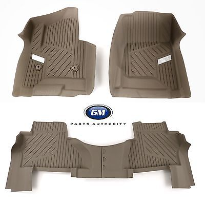 2015-2018 Cadillac Escalade All Weather Front & 2nd Row Floor Liner Pkg Shale OE