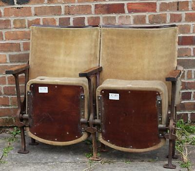A Pair of Vintage C1930s Art Deco Cinema Seats & Provenance
