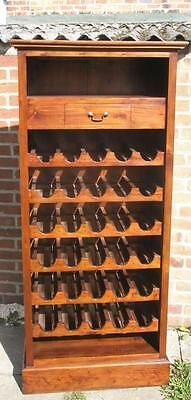 A Good Quality Ancient Mariner 30 Bottle Mahogany Wine RackCabinet