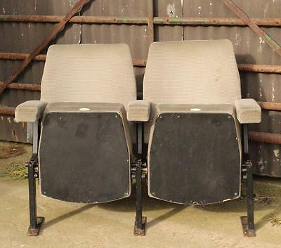 ​A Pair of Vintage Retro 1970's Cinema Seats & Provenance