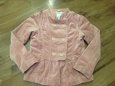 Gorgeous Girls Dusky Pink Velour Military Style Jacket By Next 7-8Yrs Lovely Con