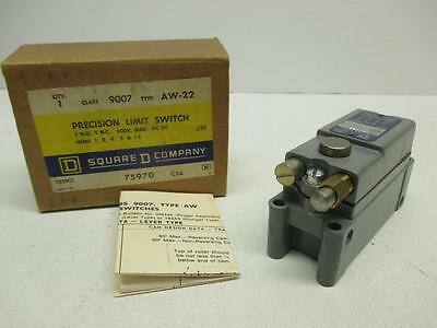 Square D 9007 AW-22 Precision Limit Switch