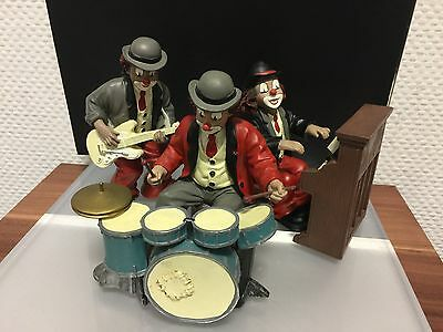 "Gilde Clown "" Band, 3 Figuren "" 14,5 cm. Top Zustand !!"