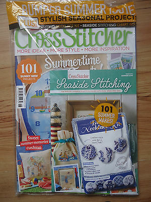 Cross Stitcher Summer 2016 Magazine With Free Gifts RRP £5.99