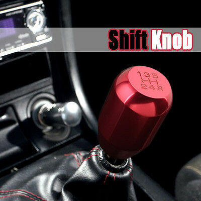 Red Car Manual 5 6 Speed Lift Up Reverse Gear Shift Knob Stick Shifter Universal