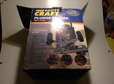 POWER CRAFT PLUNGE ROUTER BPF - 1050N 240v used