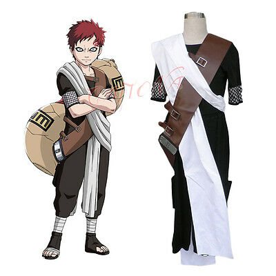 Cafiona Anime Naruto Gaara Childhood Cosplay Costume Halloween Headband Gift Hot