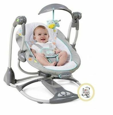 NEW Baby Swing 2 Seat Infant Toddler Rocker Chair Little Portable Convertible