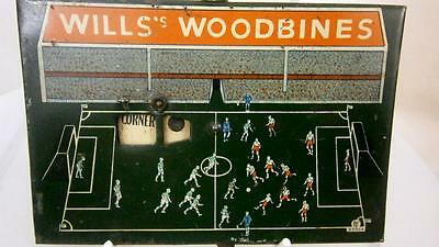 WD & HO WILLS WILD WOODBINE CIGARETTE CRICKET GAME ADVERTISING MADE of TIN 1920s