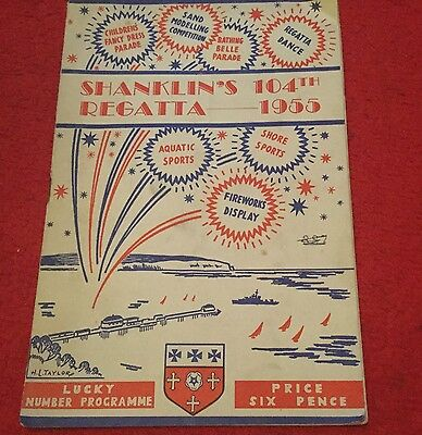 SHANKLINS 104th REGATTA 1955 SOUVENIR PROGRAMME. ISLE OF WIGHT