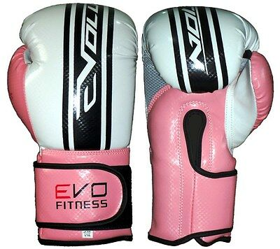 Evo Fitness Mujer Guantes De Boxeo Rosa GEL MMA Kick Boxing Muay Thai Combate