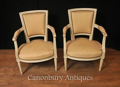 Pair French Neo Classical Arm Chairs Fauteuil Painted Chair • £1,295.00