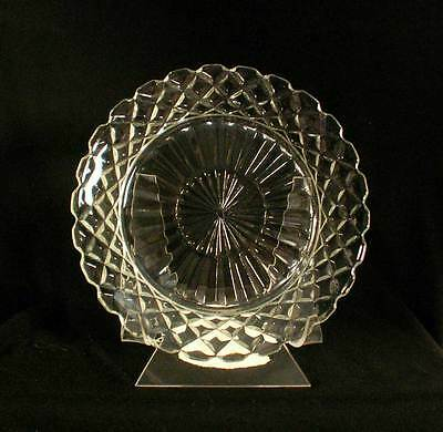 Anchor Hocking USA Waterford Clear AKA Waffle Crystal Salad Plate bfe0780