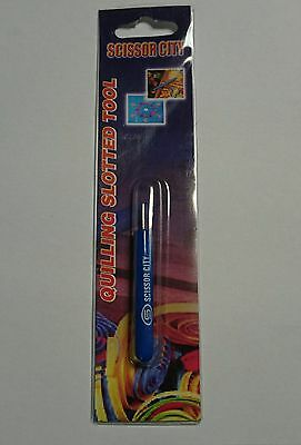 "Quilling tool slotted 2.5"" Pvc handle scissor city"