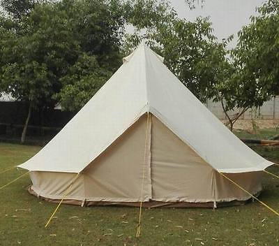 New 4m  bell tent Cotton Canvas 400-Ultimate ZIG zipped in groundsheet heavy PVC