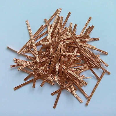 100x 40mm Hi-Performance SCALEXTRIC BRAIDS Contacts Pick-ups  Brushes Copper