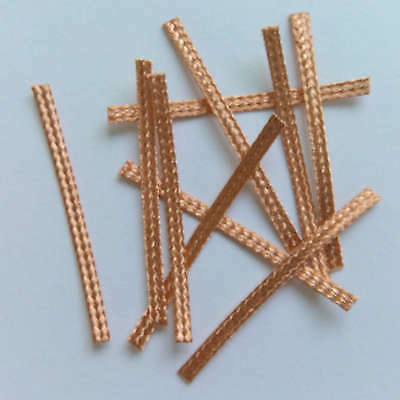 10x 40mm Hi-Performance SCALEXTRIC BRAIDS Contacts Pick-ups  Brushes Copper