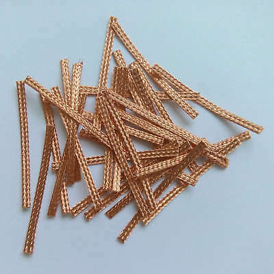 30x 40mm Hi-Performance SCALEXTRIC BRAIDS Contacts Pick-ups  Brushes Copper