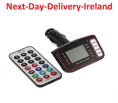 Unversial LCD Wireless FM Transmitter Car SD/TF Card USB Drive Remote Control