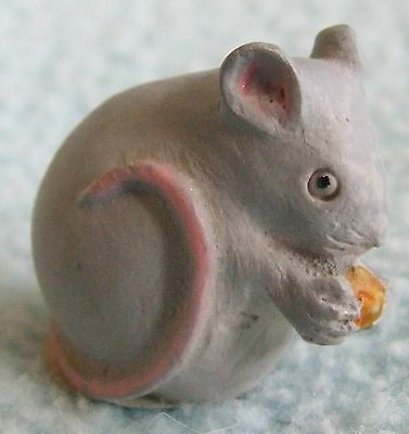 Vintage 1985 PETER FAGAN Hand Painted Miniature Animal Ornament - MOUSE