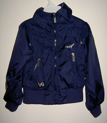 Vingino Girls Navy Blue Collared Jacket Age 2-3 Years Worn Couple of times only