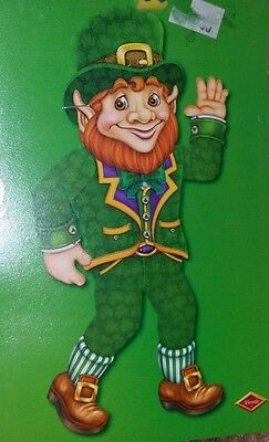 """NEW Jointed Leprechaun Decoration - Measures 33"""" tall!  St. Patrick's Day Decor"""