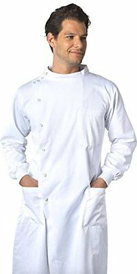 Dr. Howie Unisex White Lab Coat with Mandarin Collar ? PROFESSIONAL QUALITY