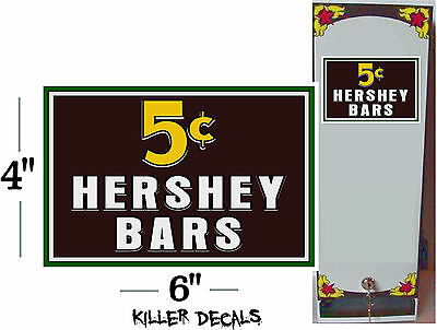 "6"" -5 Cent Hershey Candy Bar For Soda Pop Vending Machine Cooler"