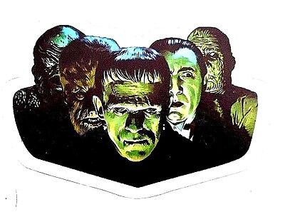 Frankenstein Dracula Wolfman Mummy Creature From Black Lagoon Decal/ Sticker