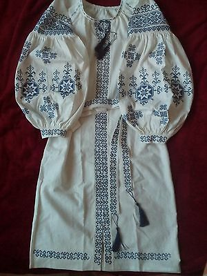 Ukrainian embroidery, embroidered dress (or blouse),any color, XS - 3XL, Ukraine