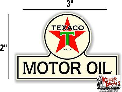 "3"" TEXACO POST WAR OIL BOTTLE DECAL GAS AND OIL PUMP STICKER a"