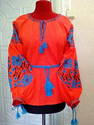 Ukrainian embroidery, embroidered blouse, any color, XS - 3XL, Ukraine