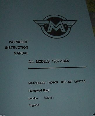 Matchless/ajs Workshop Manual Singles And Twins 1957-1964