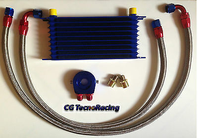 Kit radiatore olio auto Universale racing 10 file oil cooler kit car racing 10R